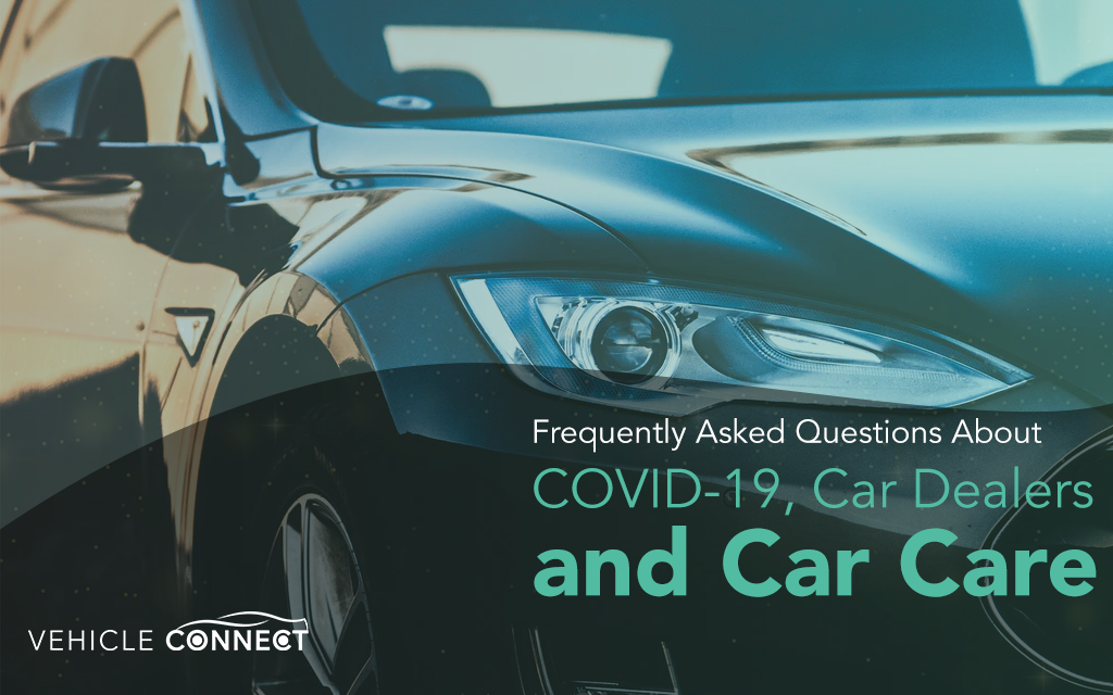Black car closeup Vehicle Connect answers FAQs about COVID 19, car dealers and car care
